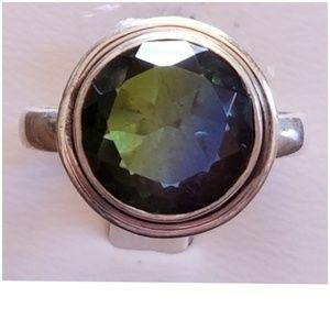 4ct Bi-Color Tourmaline Ring Size 8